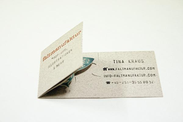 Meine Visitenkarten My Business Cards Faltmanufaktur Blog