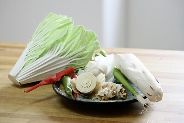 Paper veggies for Kimchi