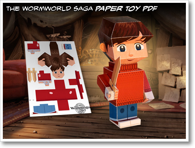The Wormworld Saga Paper Toy Jonas Berg
