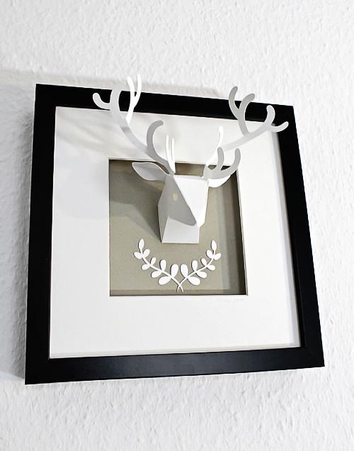 urspr nglich ist diese wild troph he aus papier ebenfalls f r den. Black Bedroom Furniture Sets. Home Design Ideas