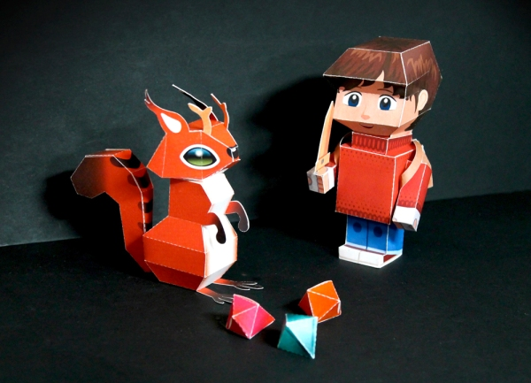 Papertoys for The Wormworld Saga by Daniel Lieske