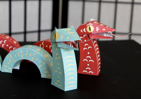 2013 Year of the Snake Papercraft