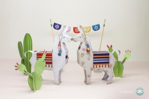 Llama_Cacti_Papertoy_freebie_DIY_faltmanufaktur01