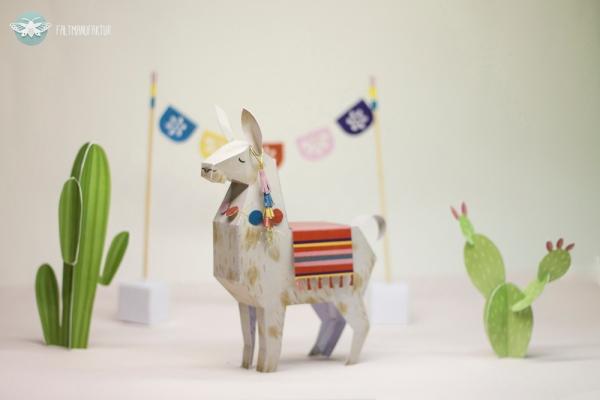 Llama_Cacti_Papertoy_freebie_DIY_faltmanufaktur05