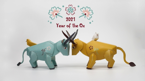 Year of the ox papertoys